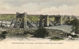 BOER WAR, Railway Bridge At Tugela With Dynamite Destroyed By Boers (1900) - Other Wars