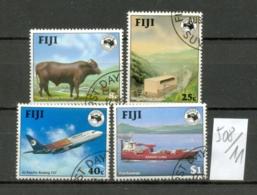 FIDSCHI-INSELN -   508/11  AUSIPEX'84  Kompl.  Gest. USED - Fidji (1970-...)