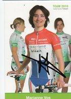 CYCLISME AUTOGRAPHE MARIANNE  VOS - Cyclisme