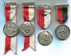 M030 LOT DE 4 MEDAILLES DE TIR SUISSE SHOOTING MEDALS SWITZERLAND 1960 1964 1967 1969 - Médailles & Décorations