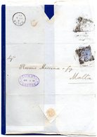 ##(DAN1812)-1884-Bend Letter Without Text From London, Lombard Street Squared Cancel To Malta - 1840-1901 (Regina Victoria)