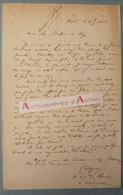 L.A.S 1862 Jules-Antoine CASTAGNARY Ami De Gustave COURBET Critique D'art Journaliste Né à SAINTES Lettre Autographe - Autographes