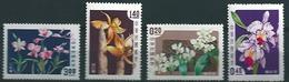 Taiwan (1958) Yv. 255/58  /   Flowers - Fleurs - Flora  - Flores - Orchids - Orquidea - Orchideeën