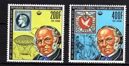Comores P.A.  N° 155 / 56 X  400 è Annive. De La Mort De Rowland Hill, Les 2 Vals Trace De Charnière Sinon TB - Comores (1975-...)