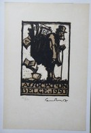 Ex-libris Illustré Belgique XXème - Sigle ABCDE (Association Belge Des Collectionneurs D'Ex-Libris) - Colporteur - Ex Libris