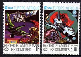 Comores P.A.  N° 157 / 58 X  Europe - Afrique, Les 2 Valeurs Trace De Charnière Sinon TB - Comores (1975-...)