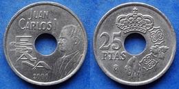 SPAIN - 25 Pesetas 2000 KM# 1013 - Edelweiss Coins - Espagne