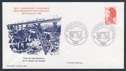 France Rep. Française 1988 Cover / Brief / Enveloppe - Train Marchandises Sur Viaduc Garabit / Railway Bridge / Brücke - Treinen