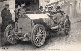 Rare CPA 76 Circuit De Dieppe Hemery Sur Voiture Benz Animation ++++ Mercedes Automobile Auto Course - Dieppe