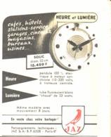 "PUB PENDULE LUMINEUSE ( SOLIC )  "" JAZ  ""  1954 ( 1a ) - Bijoux & Horlogerie"