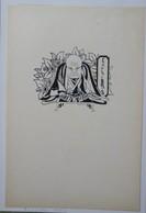 Ex-libris Illustré Belgique XXème - Sigle ABCDE (Association Belge Des Collectionneurs D'Ex-Libris) - Genre Asiatique - Ex Libris
