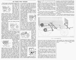 LES FREINS POUR VOITURES  1899 - Transports
