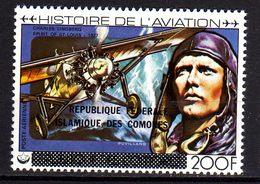 Comores P.A.  N° 160 X Histoire De L'aviation Trace De Charnière Sinon TB - Comores (1975-...)