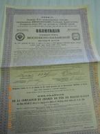 OBLIGATION De La Compagnie Des CHEMINS De FER De MOSCOU  KAZAN, Frs  500  1914 - Chemin De Fer & Tramway