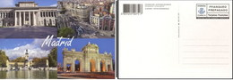 ESPAÑA SPAIN ESPAGNE CORREOS TURÍSTICA 2012 MADRID VISTAS HORIZONTALES TARIFA B TARJETA ENTERO POSTAL CARD PREFRANQUEADA - Enteros Postales