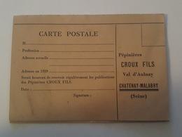 Chatenay Malabry Pub - Pépinières Croux Fils - Val D'Aulnay - 1945 - Chatenay Malabry