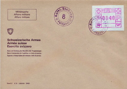 Postal History: Switzerland Registered Cover With Automat Stamps And Feldpost Cancel - Militaria