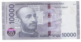 Armenien / Armenie / Armenia 2018, 10000 Dram, Komitas, Priest, Composer, Christianity - UNC - Arménie