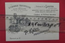 """Pub """" A L'habile Tricoteuse"""" Specialité De Layettes P Penel Phalsbourg - Cartes De Visite"""