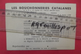 """Pub """" Les Bouchonneries Catalanes"""" Glenic - Cartes De Visite"""