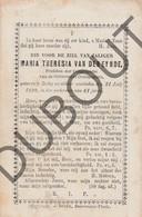 Doodsprentje Zuster/Soeur Maria Theresia Van Den Eynde °1829 Retie †1890 Retie (F74) - Décès