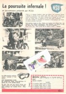Publicité De Presse // Moto NSU - Film Avec Tintin Et La Toison D'Or - Autres