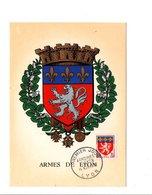 CARTE MAXIMUM 1598 ARMES DE LYON - Maximum Cards