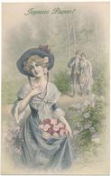M. M. VIENNE N° 739 - Femme, Couple, Joyeuses Pâques !, Wichera - Vienne