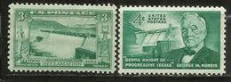 USA. Grand Coulée Dam (State Of Washington) & Kingsley Dam (Nebraska). 2 Timbres Neufs ** - Architecture