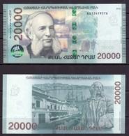 Armenien / Armenie / Armenia 2018, 20000 Dram Banknote, Ivan (Hovhannes) Aivazovsky (1817-1900), Marine Painter - UNC - Arménie