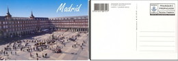 ESPAÑA SPAIN ESPAGNE CORREOS TURÍSTICA 2012 MADRID PLAZA MAYOR DESFILE TARIFA B TARJETA ENTERO POSTAL CARD PREFRANQUEADA - Enteros Postales
