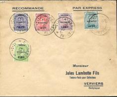 Eupen & Malmedy  TP OC 55 à 59  Herbesthal > Verviers  1920 - [OC55/105] Eupen/Malmédy