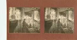 PONT A MOUSSON : Photo Stérescopique - Maison Bombardée Et Incendiée Sur Le Rie Gauche De La Moselle - Stereoscopic