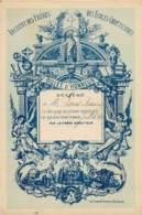 BILLET D'HONNEUR DE L'ECOLE CHETIENNE Délivré Par Le Frère Directeur - Couleur Bleu Sur Fond Vert Pale - 1893/1895/1896 - Diplômes & Bulletins Scolaires
