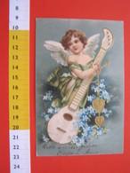 CA5 ITALIA - 1903 ANGELO MUSICA MANDOLINO MUSIC RILIEVO ANNULLO TARGHETTA ROMA BANDIERA V E III SAVOIA - Angeli