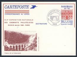 France Rep. Française 1988 Card / Karte / Carte Postale - Viaduc De Cabanasse / Railway Bridge / Eisenbahnbrücke - Treinen
