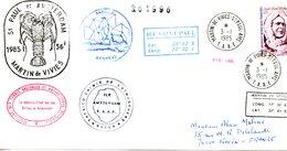 TAAF. Belle Enveloppe Commémorative De 1985. St Paul Et Amsterdam. Martin De Vivies. - Cartas
