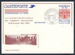 France Rep. Française 1988 Card / Karte / Carte Postale - Viaduc De Chalindrey / Railway Bridge / Eisenbahnbrücke - Treinen