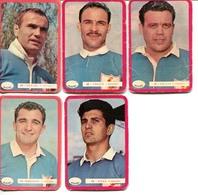 """Lot 5 Cartes Miroir Sprint """"SHOOT"""" : Joueurs De L'equipe De Fance De Rugby Des Annees 60's - Rugby"""