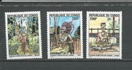 CONGO Scott 1078A-1078C Yvert 1001-1003 (3) ** Cote 10,50 $ 1994 - Congo - Brazzaville