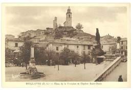 Cpa Reillanne - Place De La Fontaine Et Clocher Saint-Denis - France