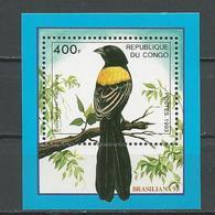 CONGO Scott 1042 Michel B123 (bloc) ** Cote 12,00 $ 1993 - Congo - Brazzaville