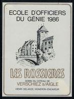 Rare // Etiquette De Vin // Militaire // Verschiez Sur Aigle, Ecole D'officiers Du Génie 1986 - Militaire