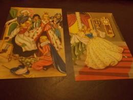 B703  4 Cartoline Cenerentola Non Viaggiate - Fiabe, Racconti Popolari & Leggende