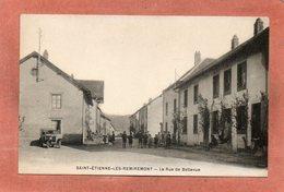 CPA - SAINT-ETIENNE-de-REMIREMONT (88) - Aspect De La Rue De Bellevue En 1921 - Saint Etienne De Remiremont