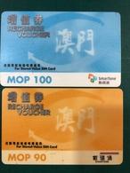 MACAU - SMARTONE STORED VALUE SIM CARD X 2 KIND OF VALUE - Macau