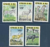 """Mali YT 359 à 363 """" Faune """" 1980 Neuf** - Mali (1959-...)"""