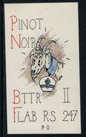 Rare // Etiquette De Vin // Militaire // Pinot Noir, Battre II, Flab RS 247 90  (chèvre Avec Cloche) - Militaire