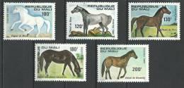 """Mali YT 364 à 368 """" Chevaux """" 1980 Neuf** - Mali (1959-...)"""