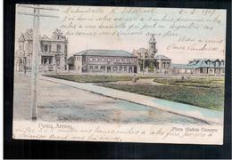 CHILE Punta Arenas Plaza Munoz Gamero 1907 OLD POSTCARD 2 Scans - Cile